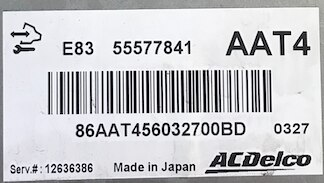 ACDelco Engine ECU, 55577841, AAT4, E83, 12636386