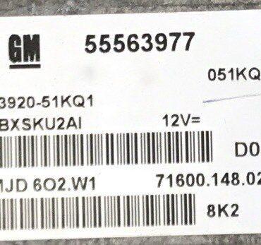 Magneti Marelli Engine ECU, MJD 6O2.W1, 55563977, 71600.148.02