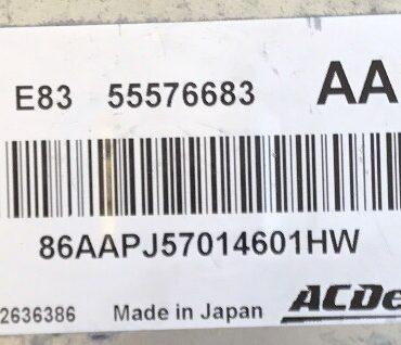 ACDelco Vauxhall Corsa 1.0 Engine ECU, 55576683, AAPJ, E83, 12636386