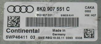 Audi A4 3.0TFSi, 8K0907551C, 8K0 907 551 C, 5WP46411