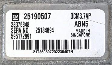 Delphi Engine ECU, 25190507, 28376848, DCM3.7AP, ABN5